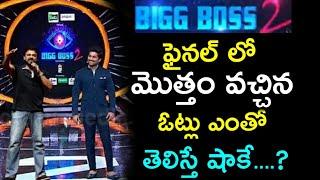 Bigg Boss 2 Telugu Finale Total Votes   Total Votes In Bigg Boss 2   Shocking Votes In Bigg Boss 2
