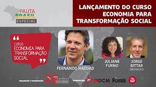 #aovivo | Lançamento do curso Economia para Transformação Social | Pauta Brasil