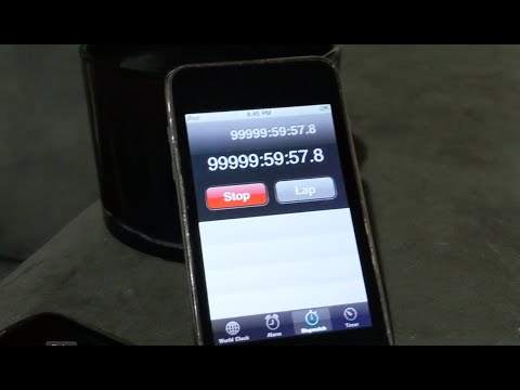 iPod Stopwatch ticks over from 99,999hrs 59secs to 100,000hrs. What will happen?