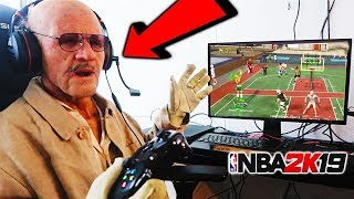 i stream sniped the Oldest Man in the 2K community 😱😱He almost passed out because of Rage NBA 2K19