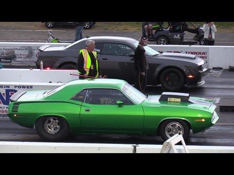Dodge Demon vs Cuda - Old vs New School Drag Racing - 604 Street Legit