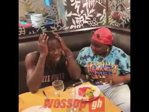 Stonebwoy chilling with Nigerian Sugar Mummy  (Teni)
