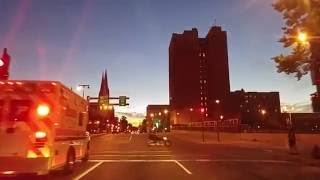 Driving by Downtown Milwaukee,Wisconsin