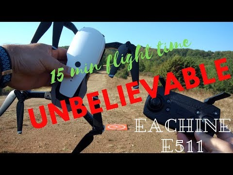 Eachine E511 Long flying foldable 1080P Camera Drone| Flight Test Review (Courtesy Banggood)