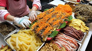 We sell 1200 kimbap a day! Great Korean Grandmother. / korean street food