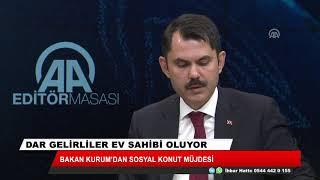 """Bakan Kurum'dan dar gelirli vatandaşlara """"sosyal konut"""" müjdesi"""