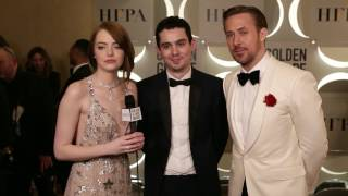 Golden Globes Backstage With Emma Stone Ryan Gosling La La Land