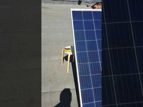 Проверка солнечного модуля ЭВ-270П