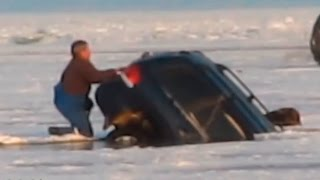 Машина утонула на рыбалке