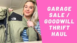 Garage Sale / Goodwill Thrift Haul to Resell Online! I found a 90's North Face Gore-tex Jacket!!