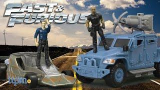 Fast & Furious Deluxe Stunt Stars Hobbs + Navistar MXT and Owen Shaw + Flip Car from Mattel