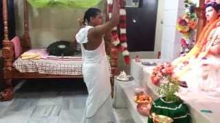 শ্রীধাম শ্রীঅঙ্গনের আরতিরত রাম বন্ধু দাস .(aroti of ram bandhu)