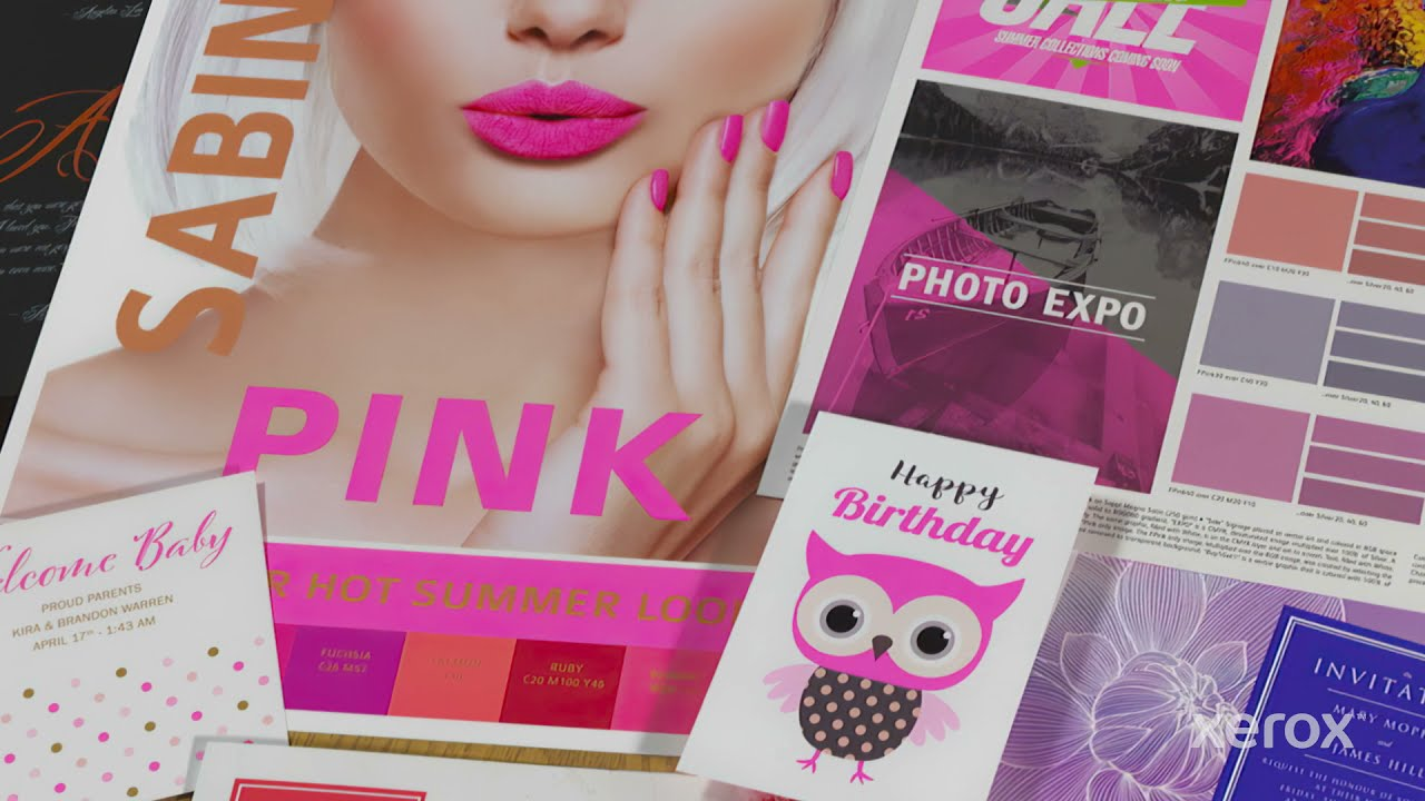Xerox® Iridesse® Production Press: Designing for Fluorescent Pink Spots YouTube Video