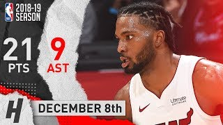 Justise Winslow Full Highlights Heat vs Clippers 2018.12.08 - 21 Pts, 9 Assists