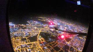 preview picture of video 'Night takeoff from Doha nice city view'