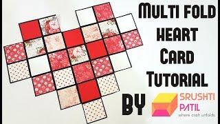 Multi Fold Heart Card By Srushti Patil | Valentine Special |