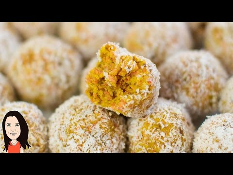 Video Carrot Cake Energy Balls - Easy Vegan Recipe!