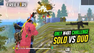 Only Use M4A1 Challenge in Solo vs Duo Gameplay - Garena Free Fire