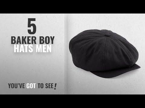 Top 10 Baker Boy Hats Men [2018]: Mens Retro Style Black Baker Boy Hat Newsboy Gatsby Country Flat