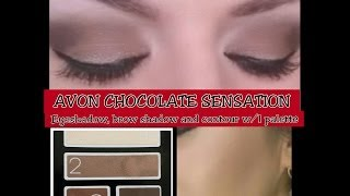 AVON CHOCOLATE SENSATION EYESHADOW review + diy