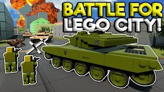 LEGO ARMY FORCES INVADE LEGO CITY! - Brick Rigs Roleplay Gameplay - Lego Military