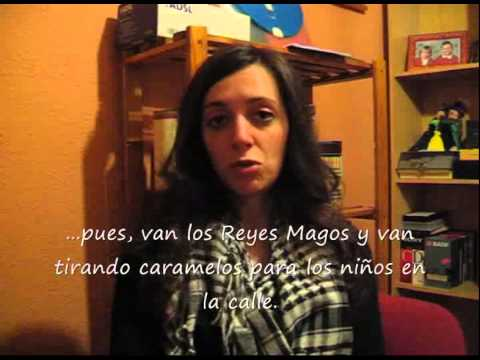 Native Spanish Speaker(subtitles) Christmas In Spain LightSpeed Spanish