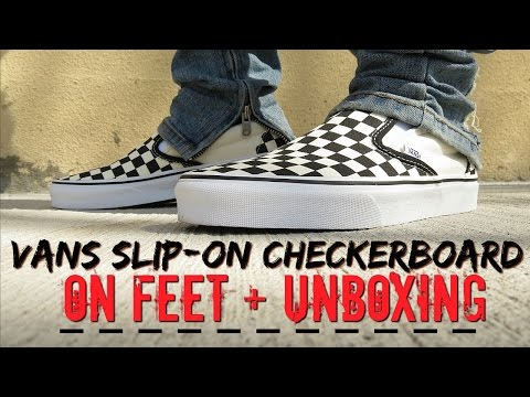 Vans Slip-On Checkerboard (ON FEET) + Unboxing & Review