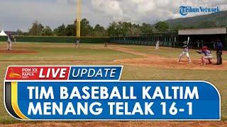Jalani Derbi Lawan Kalteng, Tim Baseball Kaltim di PON XX Papua Menang Telak dengan Skor 16-1