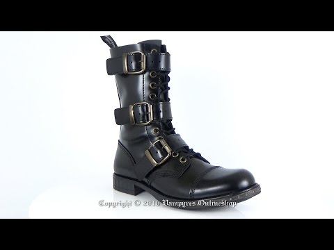 Boots And Braces 12-Loch Steampunk Schwarz