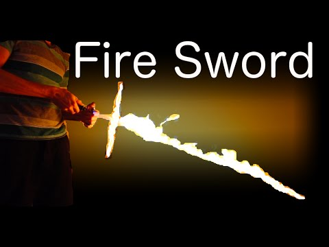 A Sword Made Of Fire Is The Coolest Thing