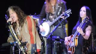 Steven Tyler singing I'm down/Oh Darling/ Come Together medley at The Woods Fontanel 2018