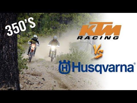 KTM 350 EXC-F  VS. Husqvarna FE350 | Owners Swap Bikes