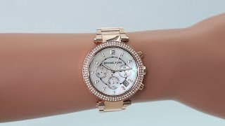 RELÓGIO MICHAEL KORS PARKER MK63145KN - Free video search site ... 81834a9c16