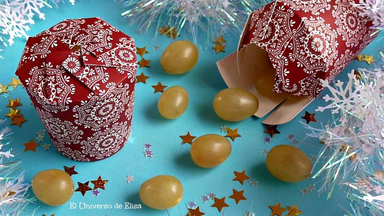 Cómo Presentar las Uvas en Nochevieja, New Year's Eve, Uvas de la Suerte, Caja de Regalo
