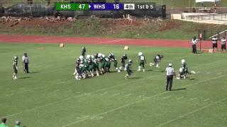KIF JV Football Kapaa vs Waimea