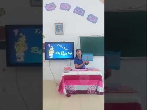 LVPTNN: Hoạt động trò chơi với chữ cái m, n, l - GV thực hiện Nguyễn Thị Dư trường MN Thụy Thanh