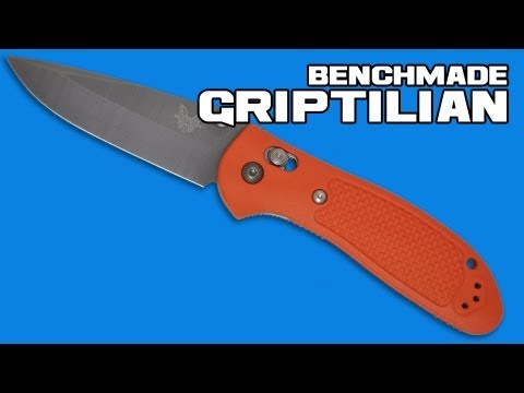 "Benchmade Griptilian AXIS Lock Knife Orange (3.45"" Satin Serr) 551SH2O"