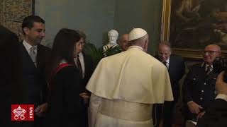 In un minuto la visita del Papa al Campidoglio