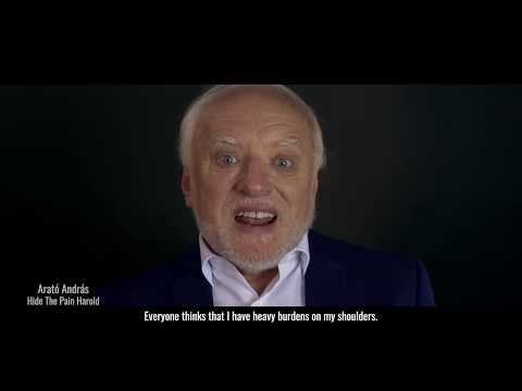 Harold's first commercial which is not humorous, for a Hungarian helpline