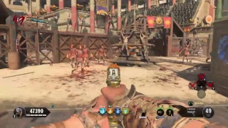 Black ops 4 Zombies Nine solo gameplay on IX round 50 attempt now 30 +