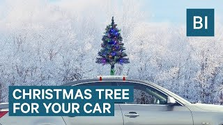 This Christmas Tree Goes On Top Of Your Car