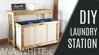 DIY: Space Saving Laundry Station