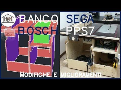 Banco sega Bosch PPS 7 - Modifiche e miglioramenti