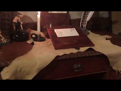 How I set up my writing desk for 18th century letter writing