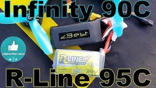 ✔ Тест Аккумуляторов Infinity 90C 1.3A vs Tattu R-Line 95C 1.3A на Квадрокоптере МОНСТРЕ! )