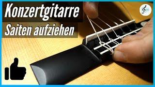 Neue Saiten aufziehen und Stimmen der Konzertgitarre - Tipps und Tricks vom Gitarrenbauer