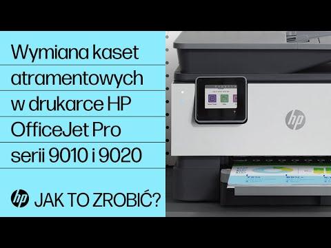 Wymiana kaset atramentowych w drukarce HP OfficeJet Pro serii 9010 i 9020