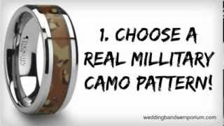 Camo Wedding Rings - Camouflage Wedding Bands