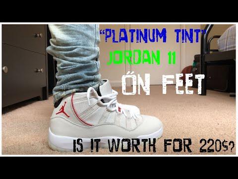 "6a62c665c942d6 Download JORDAN 11 ""PLATINUM TINT"" ON FEET REVIEW + SURVEY"