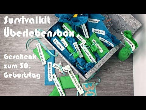 Geburtstagsgeschenk zum 30. / DIY Survival Kit ab 30 / Überlebens Paket zum 30. Geburtstag